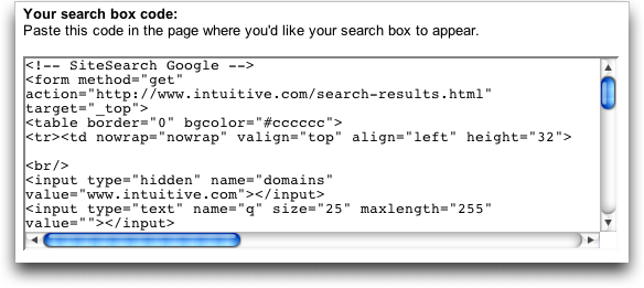 How can I add a Google search box to my Web site? - Ask ...