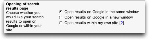 Google AdSense Search Results Page