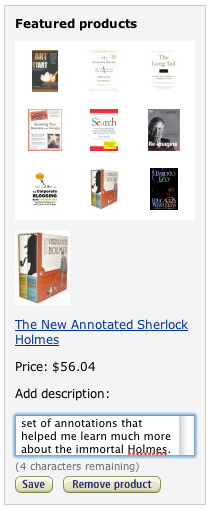 Amazon aStore: Annotating