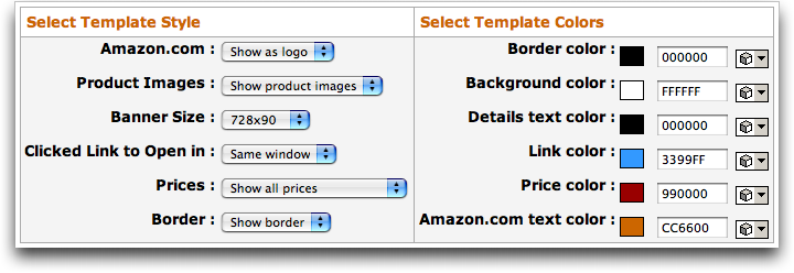 Amazon Omakase Links: Customize Styles and Templates