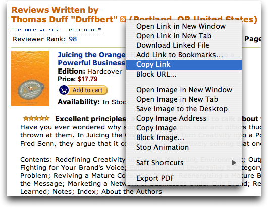 Amazon.com Reviewer RSS Feed