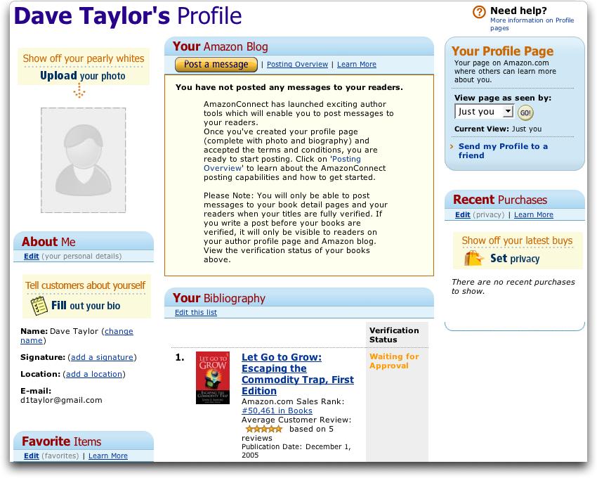 AmazonConnect: Blank profile