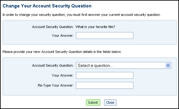 AOL.com Web site: actually change your AOL security question