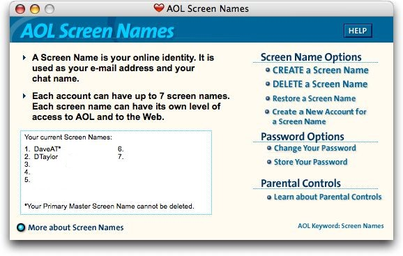 how to create an online dating screen name When it comes to the abcs of digital love, success can start with a solid screen name, researchers say as for nailing that perfect screen name, it helps to start at the top of the alphabet.