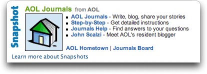 America Online (AOL) Journals
