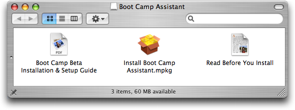 Apple Mac OS X Boot Camp (bootcamp) Installer Folder