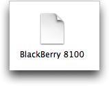 Blackberry Pearl modem script for Mac OS X