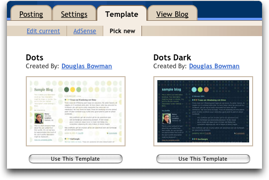 Blogger Pick Template