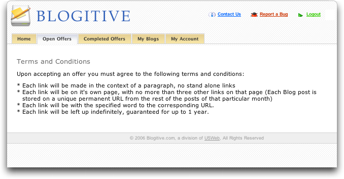 Blogitive Terms and Conditions