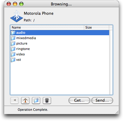 Apple Bluetooth: Browsing the Motorola RAZR V3c