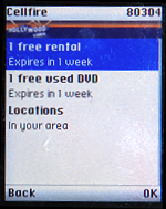 Cellfire Application: Hollywood Video Coupon