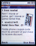 Cellfire Application: Hollywood Video Coupon: and it expires too!