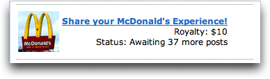 CREAMaid site, McDonald's Promotion