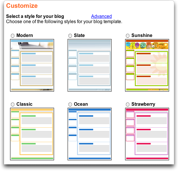 Customize your new eBay Weblog / Blog