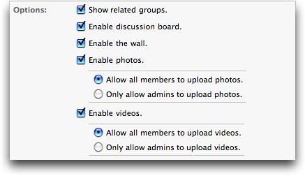 Facebook: Create New Group 3