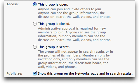 Facebook: Create New Group 4
