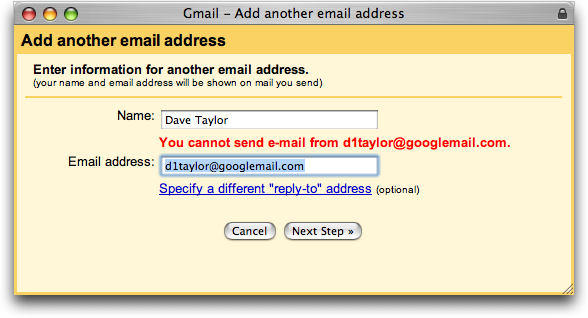 How To Change Gmail Address >> How Do I Change My Return Address In Google Gmail Ask Dave Taylor