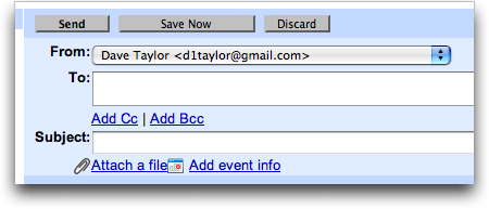 Gmail: Compose: Choose from multiple From Addresses