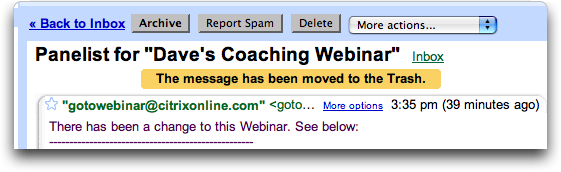 Gmail Discussion Thread: Closed