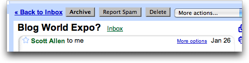 Gmail: More Options