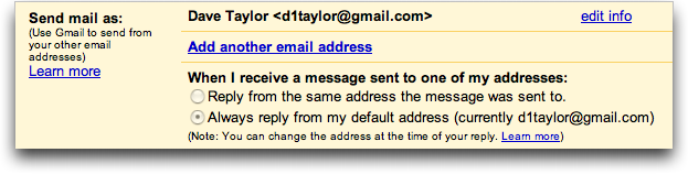 Google Gmail: Send Mail As