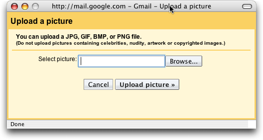 how can i add a picture to my gmail account