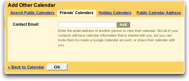 Google Add Friends' Calendars