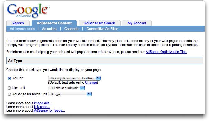 Google AdSense Ad Types