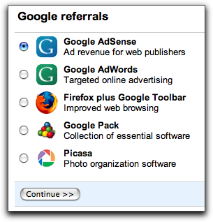 Google AdSense Referrals