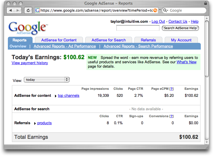 Google adsense in youtube video