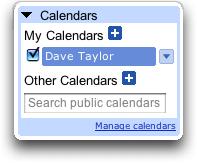 Google Calendar: Nav View