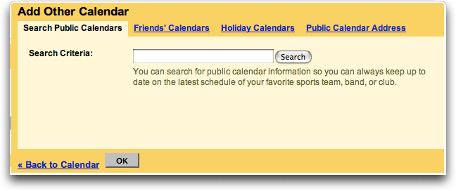 Google Calendar: Add Other Calendar