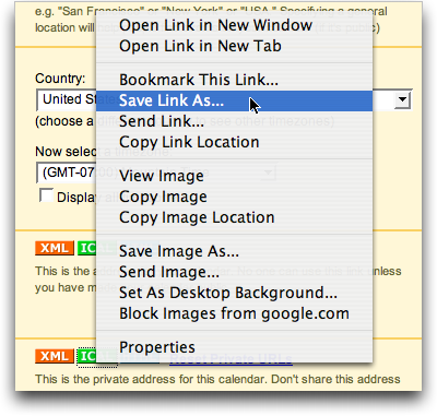Google Calendar Details: Save
