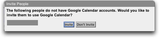Google Calendar: Invite?