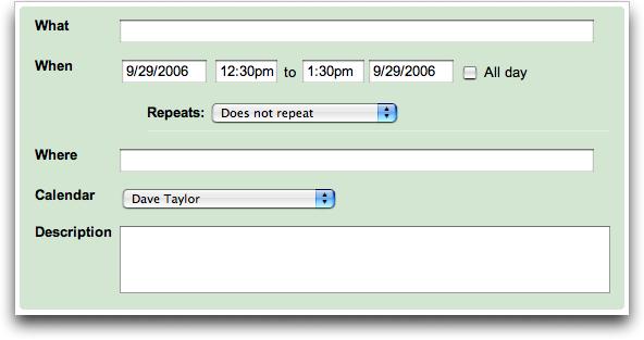 Google Calendar: Creating a repeating event