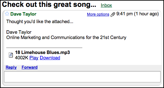 Can Google's Gmail Play MP3 Music Files? - Ask Dave Taylor
