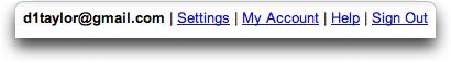 Google Reader: Nav Menu