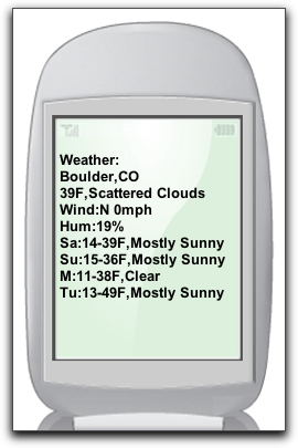 Google SMS Demo: Weather Forecast