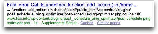 Supplemental Result, Google