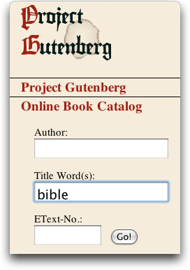 project gutenberg online book catalog