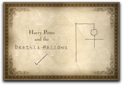 Harry Potter and the Deathly Hallows, Book #7, Hangman Game