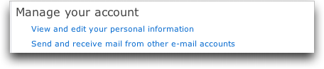 Microsoft MSN Windows Live Hotmail: Manage Your Account
