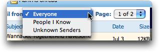 MSN Hotmail, Mailbox Filters