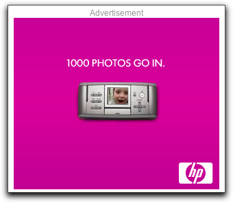 HP advertisement on the NYT home page