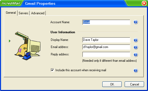 Incredimail Gmail Properties