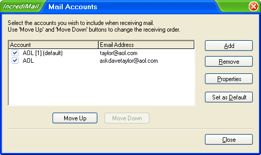 Incredimail Account Configuration
