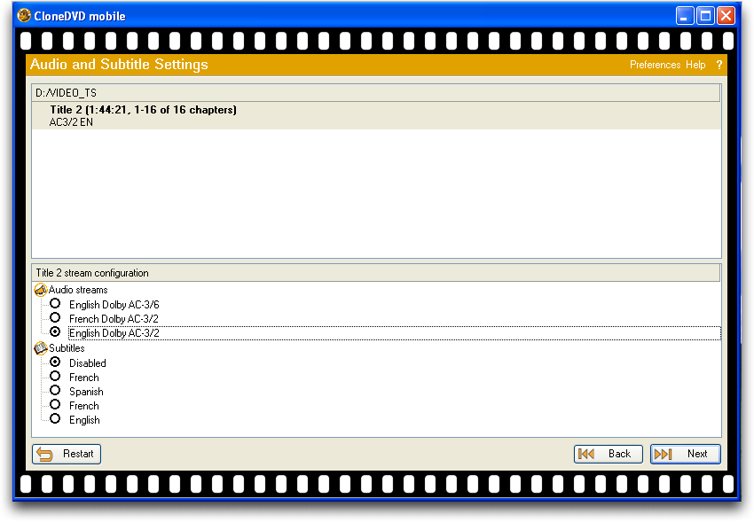 Clone DVD in Windows XP / Parallels on a Mac converting a commercial DVD movie for the iPhone, pic 3