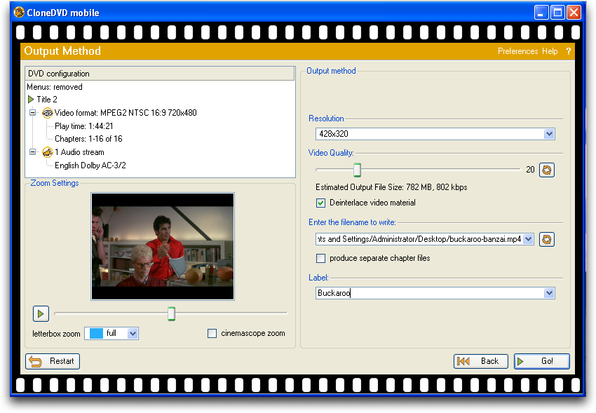 Clone DVD in Windows XP / Parallels on a Mac converting a commercial DVD movie for the iPhone, pic 4