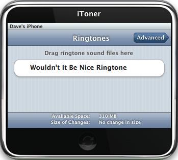 iToner iPhone Ringtone Manager: Main Window