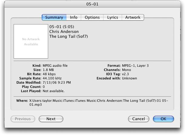 get song info itunes mac